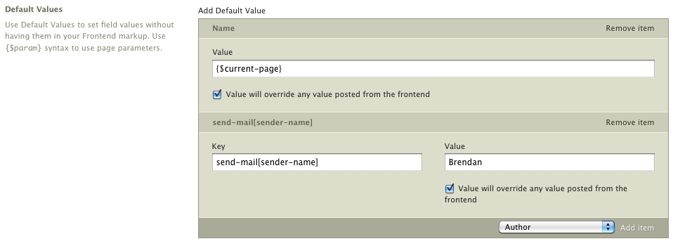 Default Event Values: Adds the ability to default values for your Events.