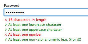 Strong Author Passwords: Enforce strict password rules when creating an author